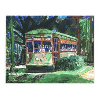 New Orleans Street Car Postcard
