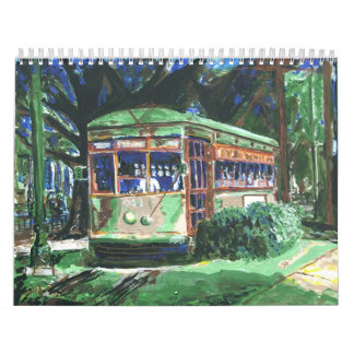 New Orleans Street Car Wall Calendar