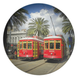 New Orleans Street Cars Canal Street Plate