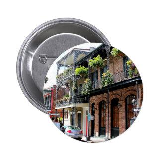 New Orleans Street Scene 2 Inch Round Button