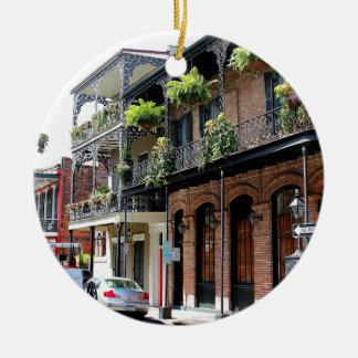 New Orleans Street Scene Ceramic Ornament