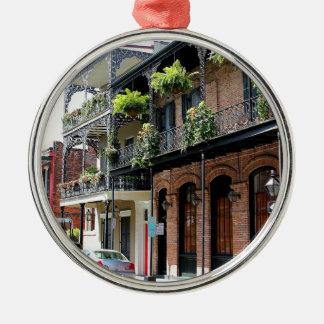 New Orleans Street Scene Metal Ornament
