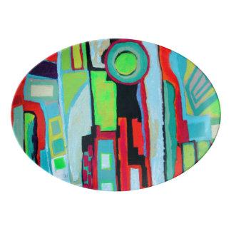 New Orleans Street Serving Platter Porcelain Serving Platter
