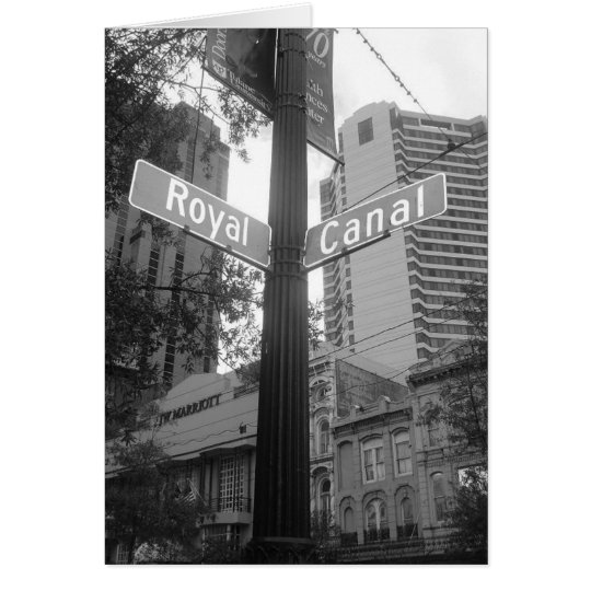 New Orleans Street Sign Card
