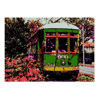 New Orleans Streetcar Fauvist Colors Poster
