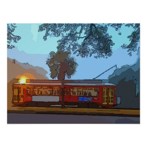 New Orleans Streetcar Morning Print