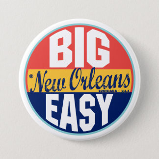 New Orleans Vintage Label 3 Inch Round Button