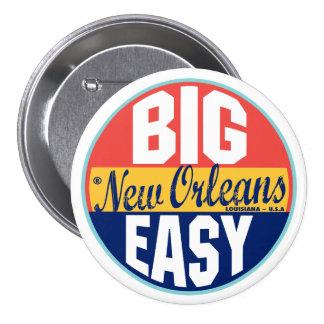 New Orleans Vintage Label 3 Inch Round Button
