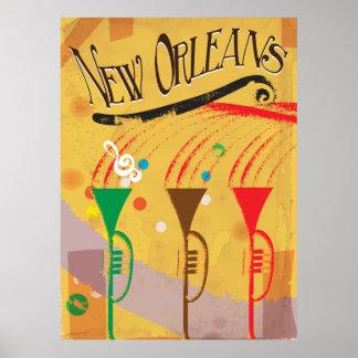 New Orleans Vintage Travel poster