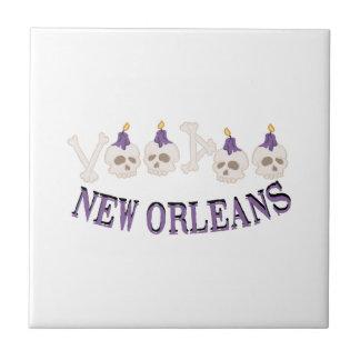 New Orleans Voodoo Skulls Tiles