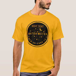 New Orleans Water Meter Cover, EDIT TEXT T-Shirt