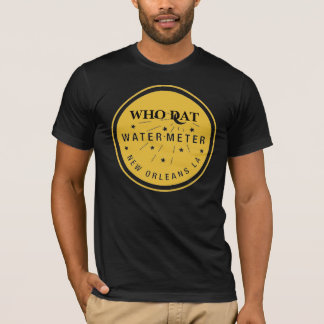 New Orleans Water Meter Cover Gold, Who That T-Shirt