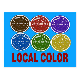 New Orleans Water Meter Local Colors Postcard