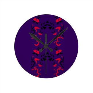 New ornaments in shop / Purple Round Clock