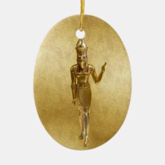 NEW-Osiris - Yule - 2NBG Ceramic Oval Ornament