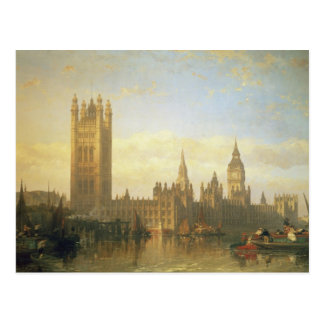 New Palace of Westminster from the River Thames Postcard