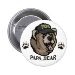 New Papa Bear Father's Day Gear 2 Inch Round Button