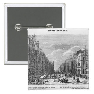 New Paris, view of a part of Rivoli street Pinback Buttons