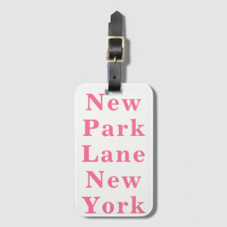 New Park Lane New York Luggage Tag