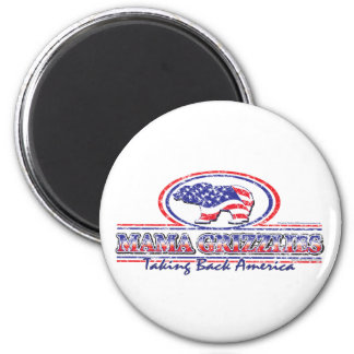 NEW-Patriotic-Grizzly 2 Inch Round Magnet