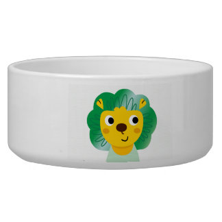New pet Mug with Little cartoon Lion illustration Pet Water Bowls