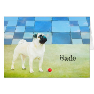 New Pug Rescue Greeting Card