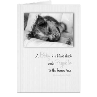 New Puppy Baby Congratulations Card! Card