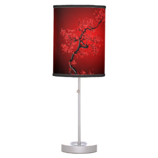 New  Red Blossom Table Lamp