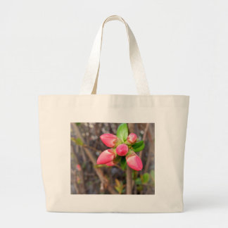 new red buds large tote bag