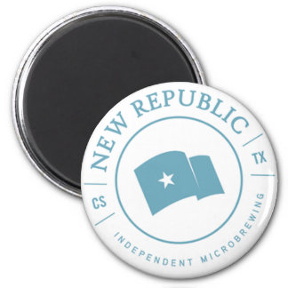 New Republic Brewing Official Seal 2 Inch Round Magnet
