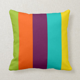 New Retro Palette Stripes Throw Pillow