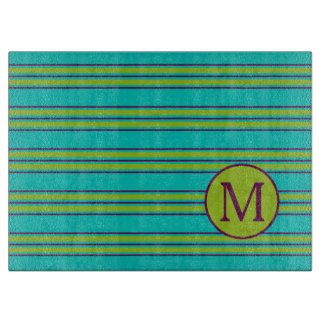 New Retro Purple and Green Stripe on Blue Monogram Boards