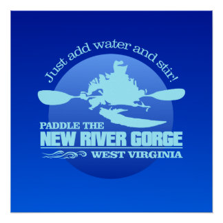 New River (Blue) Poster