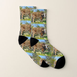New River Brown Cow Socks 1