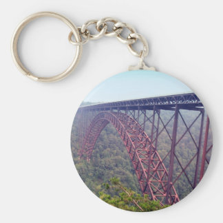 New River Gorge Bridge Basic Round Button Keychain