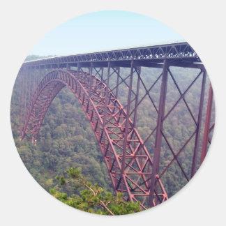 New River Gorge Bridge Classic Round Sticker