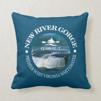 New River Gorge (c) Throw Pillow