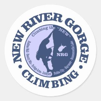 New River Gorge (Climbing) Classic Round Sticker