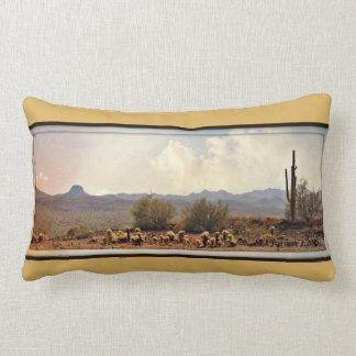 New River Landscape  Lumbar Pillow
