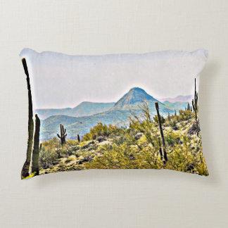 New River Tonto Mountains Landscape Throw Pillow