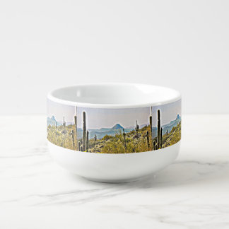 New River Tonto Mountains Soup Bowl Soup Bowl With Handle