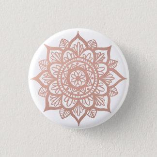 New Rose Gold Mandala 1 Inch Round Button