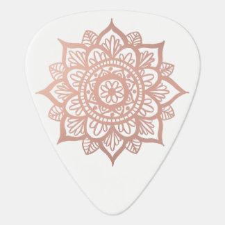 New Rose Gold Mandala Guitar Pick