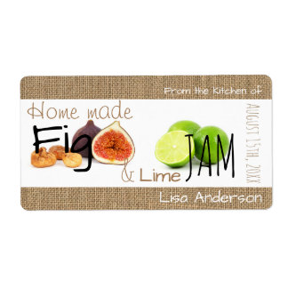 New Rustic Fig and Lime Jam personalized H Label Shipping Label
