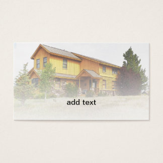 new rustic style house business card