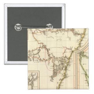 New S Wales, Van Diemen's Land 2 Inch Square Button