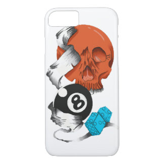 new school style, skulls, skulls, skate style, iPhone 8/7 case