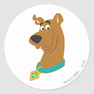 New Scooby Doo Review Pose 8 Classic Round Sticker