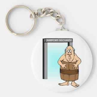 New Security Basic Round Button Keychain