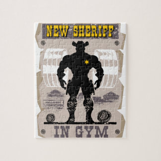 new sheriff in gym jigsaw puzzle